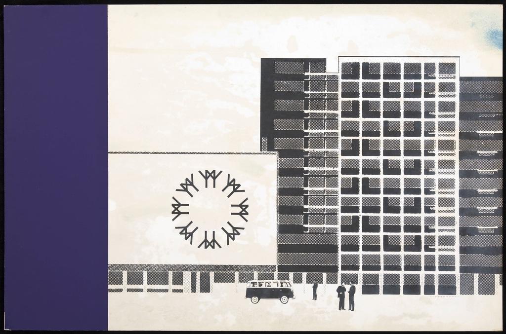 Maquette pour le logo de Terre des Hommes (Expo 67). Carton 7