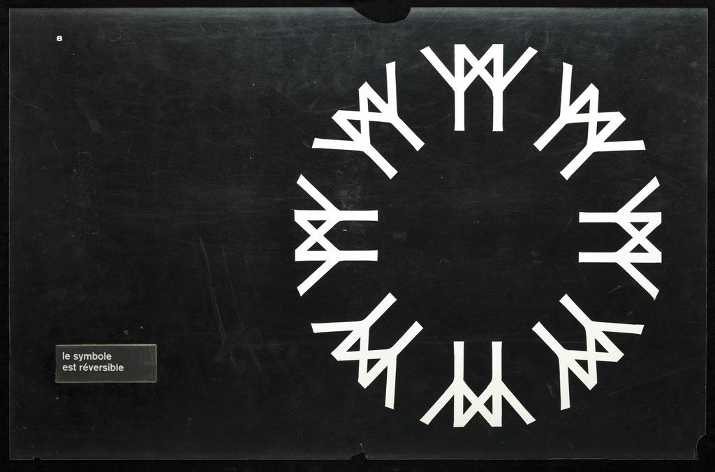 Maquette pour le logo de Terre des Hommes (Expo 67). Carton 8