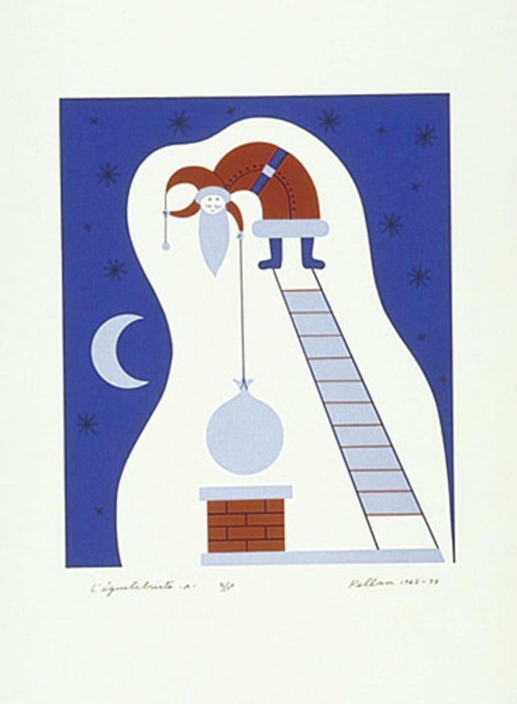 L'Équilibriste - A, du livre d'artiste «Les Pères Noëls»