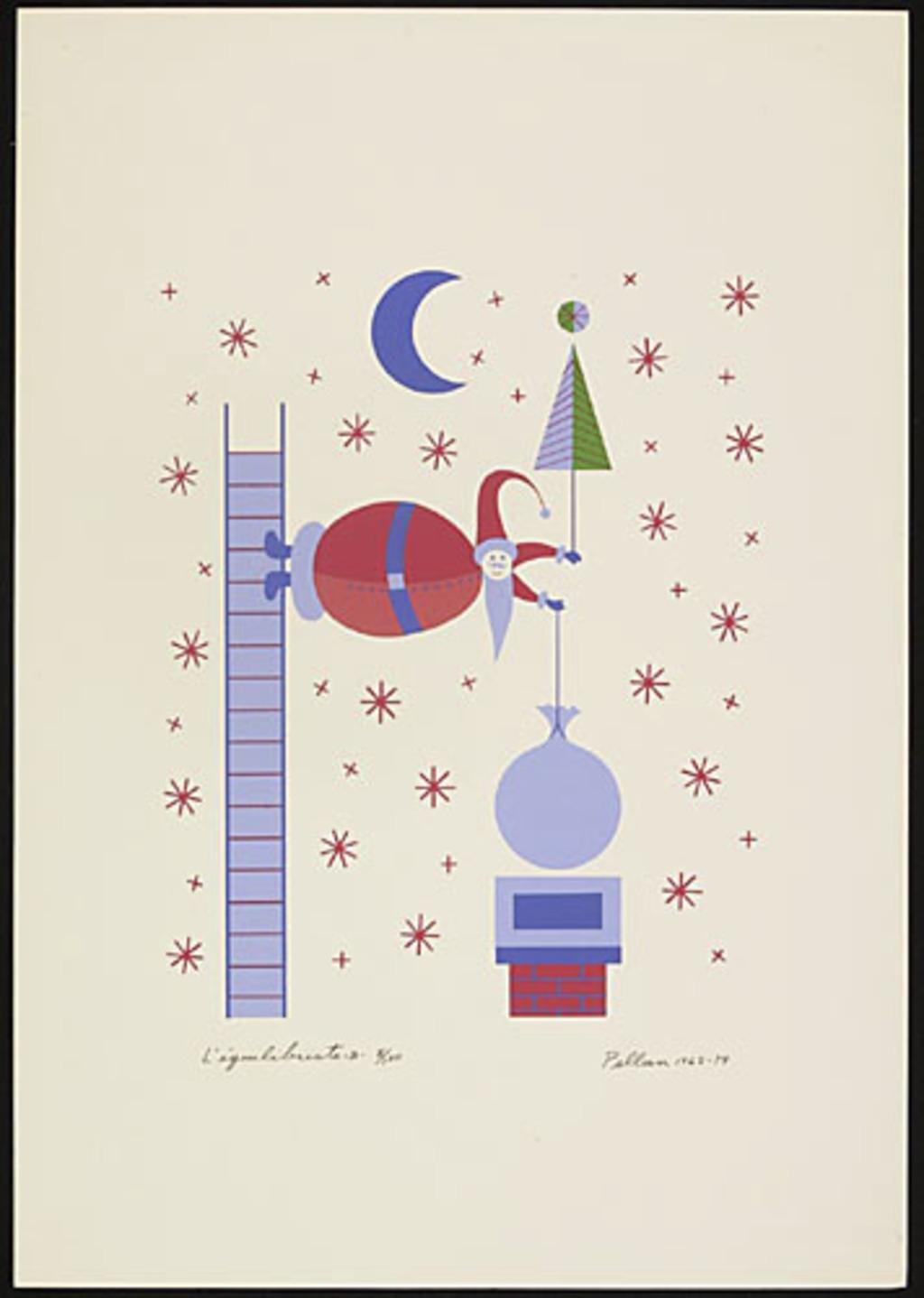 L'Équilibriste - B, du livre d'artiste «Les Pères Noëls»
