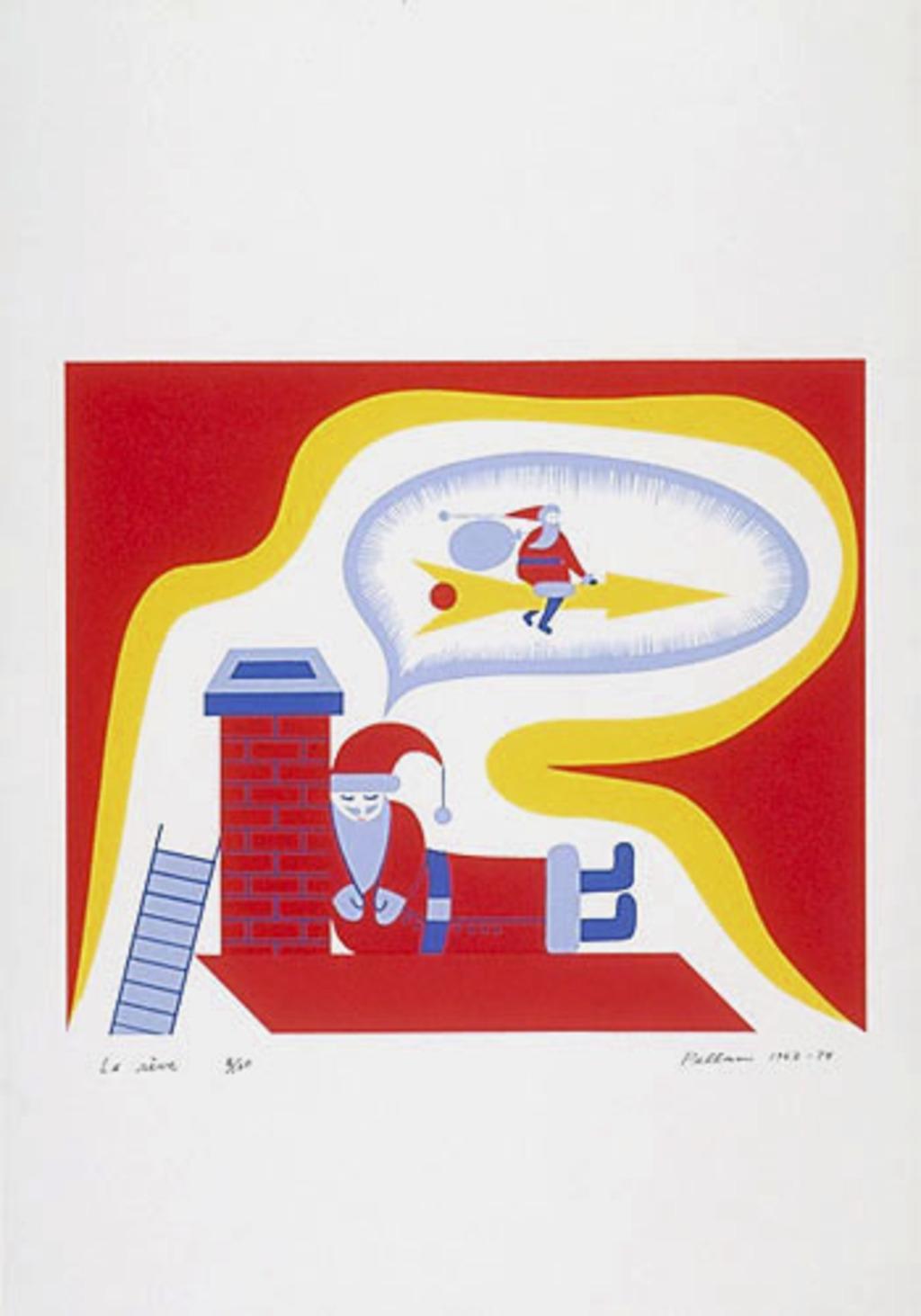 Le Rêve, du livre d'artiste «Les Pères Noëls»
