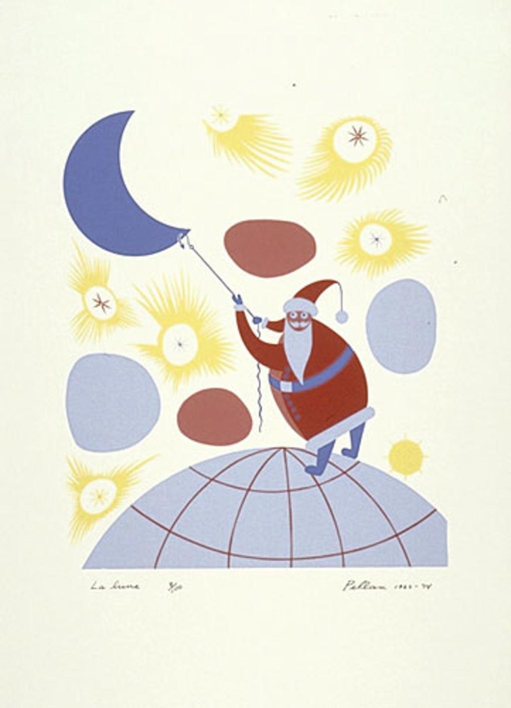 La Lune, du livre d'artiste «Les Pères Noëls»