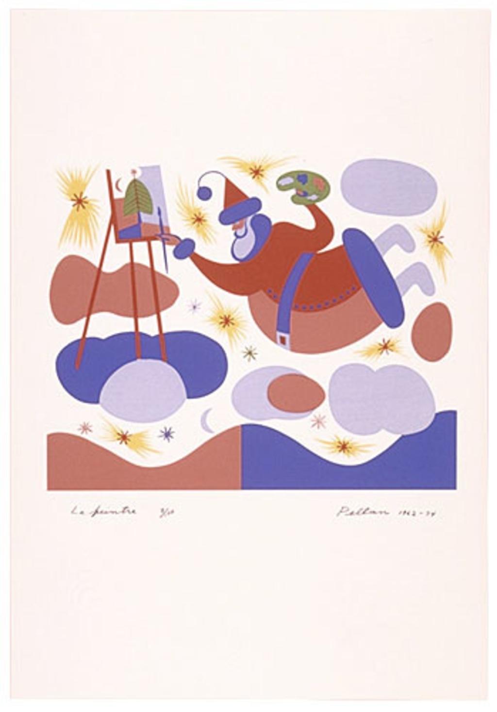 Le Peintre, du livre d'artiste «Les Pères Noëls»
