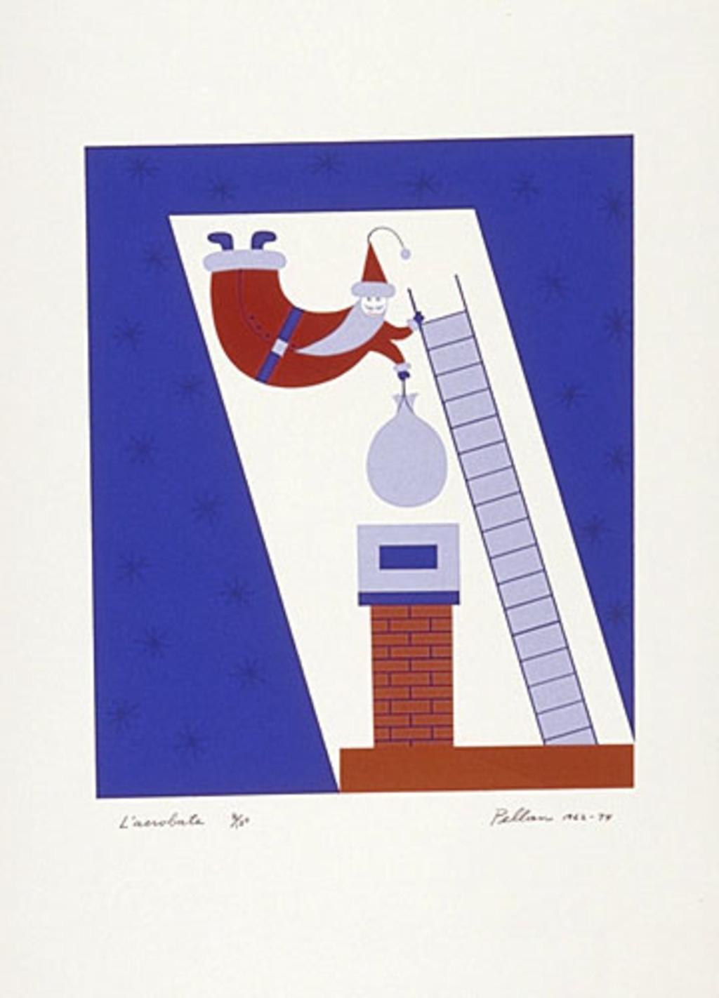 L'Acrobate, du livre d'artiste «Les Pères Noëls»