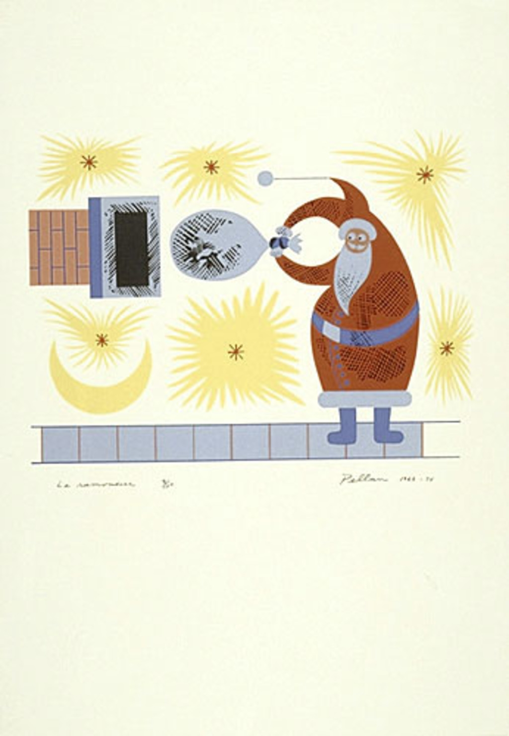 Le Ramoneur, du livre d'artiste «Les Pères Noëls»