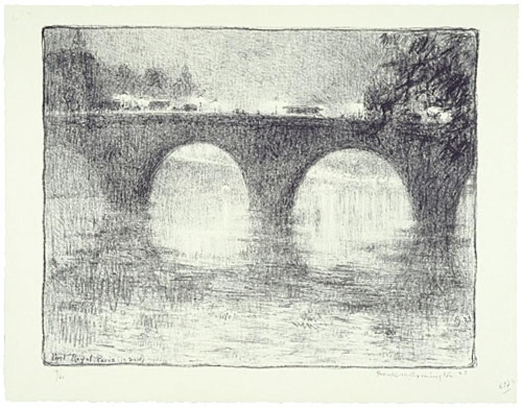 Pont Royal, Paris (le soir)