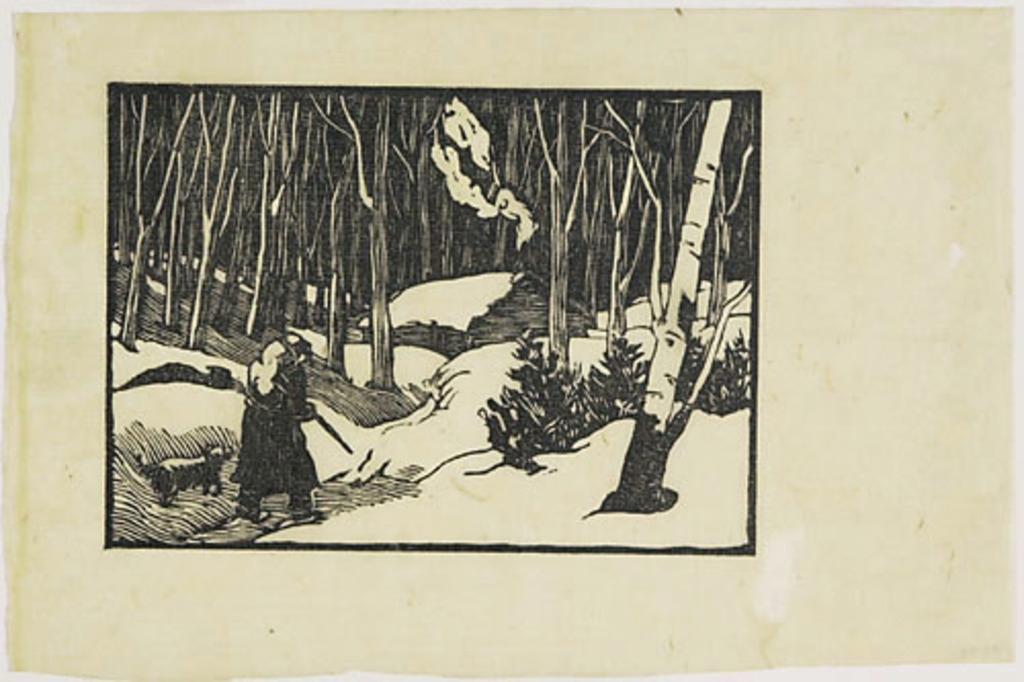 Chasseur dans la neige