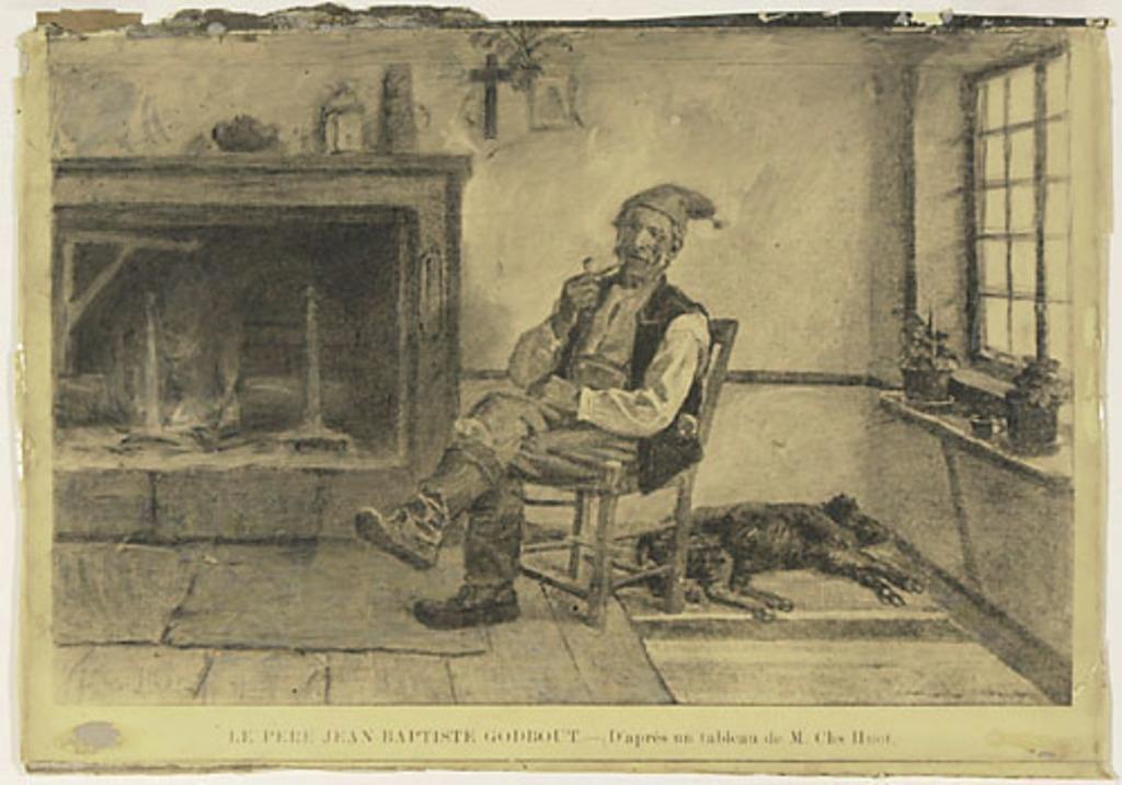 Le Père Jean-Baptiste Godbout. Photographie d'un tableau de Charles Huot