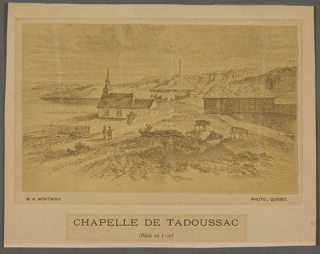 Chapelle de Tadoussac bâtie en 1747. Photographie d'une gravure