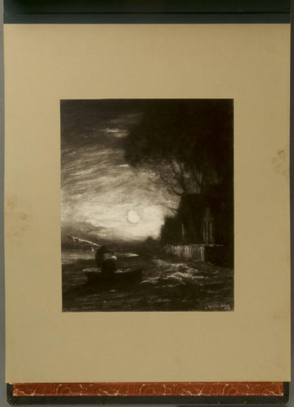 Moonlight, de l'album de reproductions de peintures d'Horatio Walker