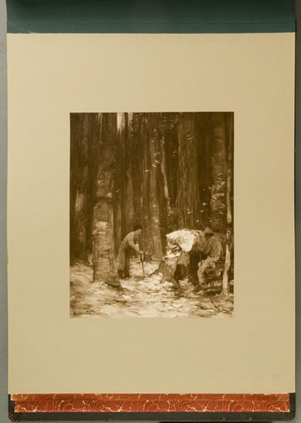 The Felled Tree, de l'album de reproductions de peintures d'Horatio Walker