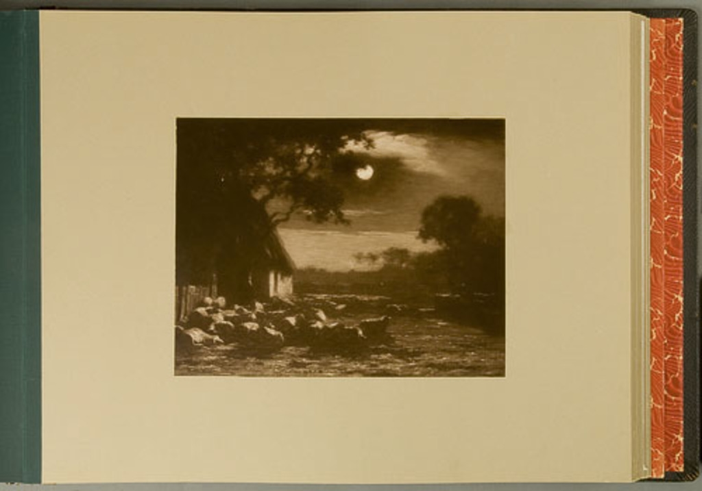 Sheepyard-Moonlight, de l'album de reproductions de peintures d'Horatio Walker