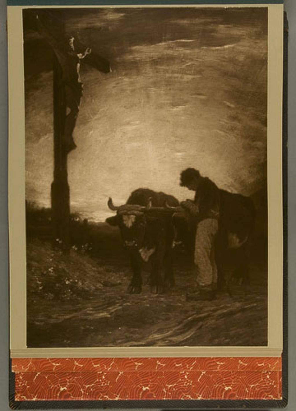Ave Maria, de l'album de reproductions de peintures d'Horatio Walker