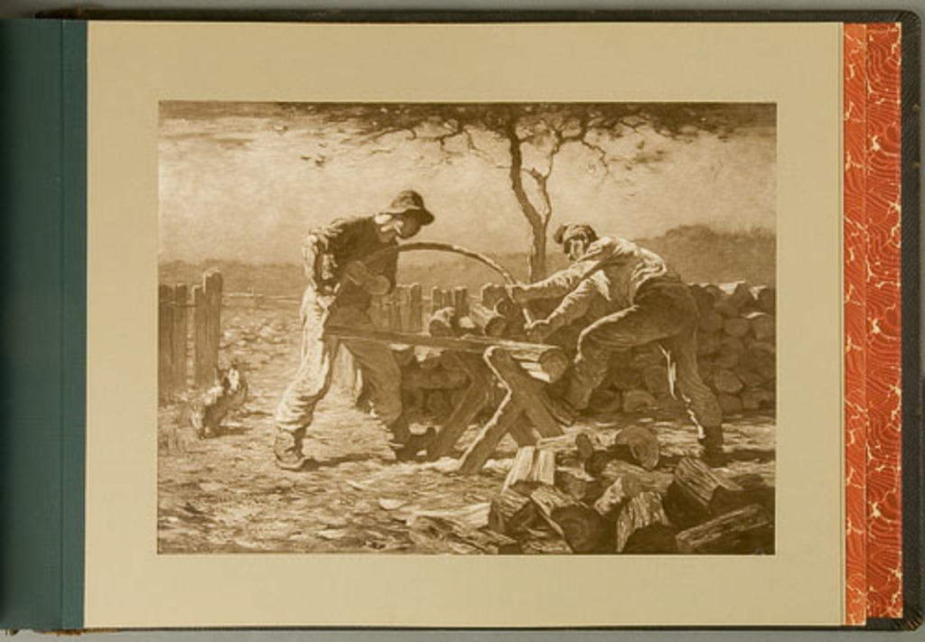 The Wook Cutters, 1905, de l'album de reproductions de peintures d'Horatio Walker