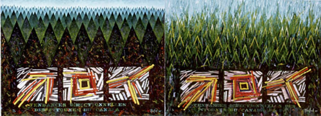Tendances directionnelles des pitounes du Canada (versions 1 et 2)