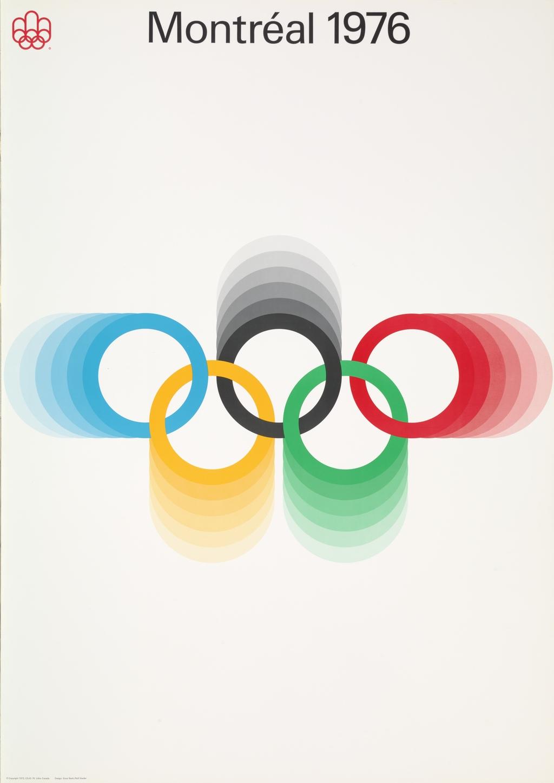 Affiche « Montréal 1976 » (les cinq anneaux olympiques)