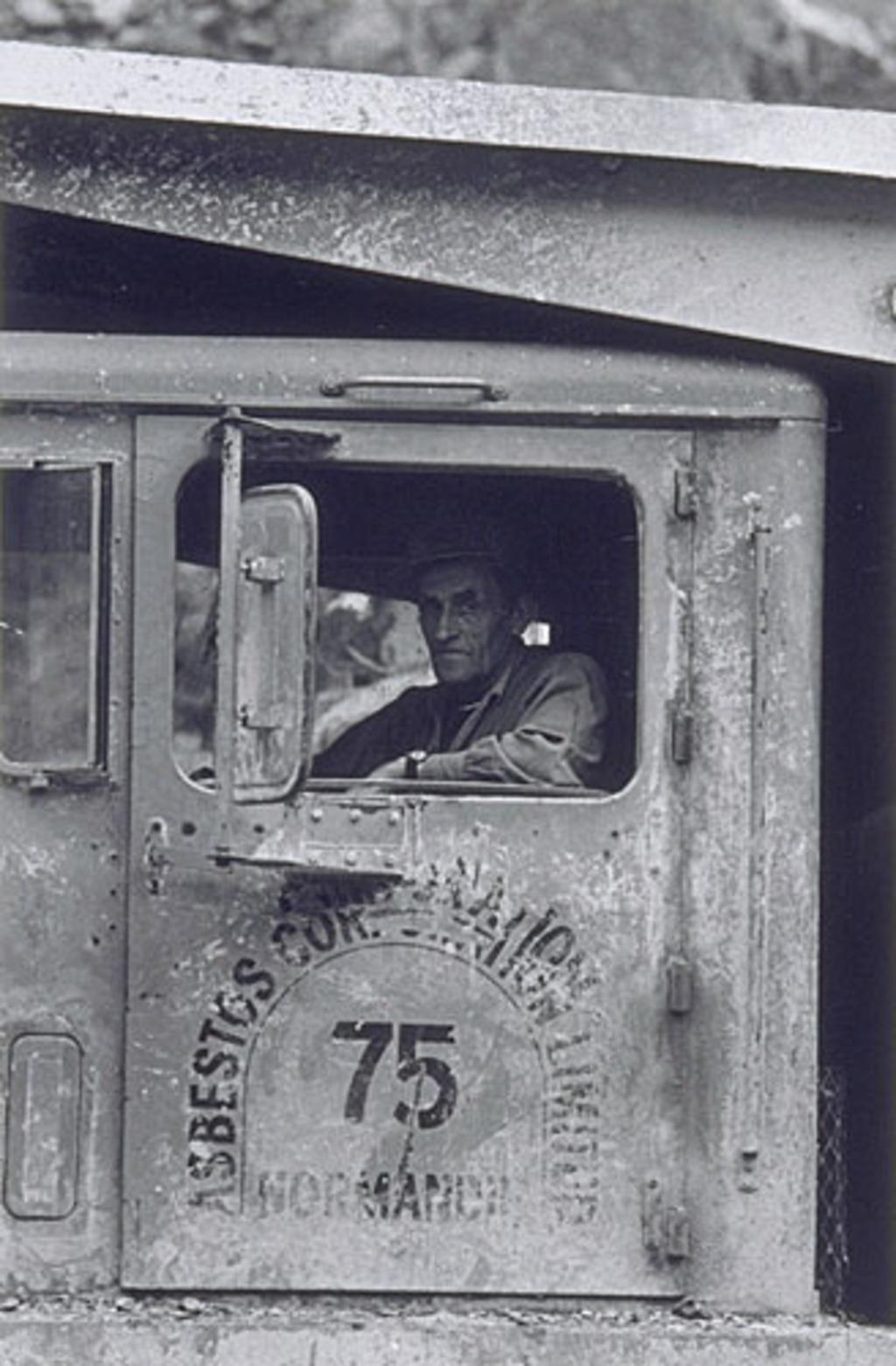 Camionneur, mine Normandie, Vimy Ridge, de la série « Disraeli, une expérience humaine en photographie »