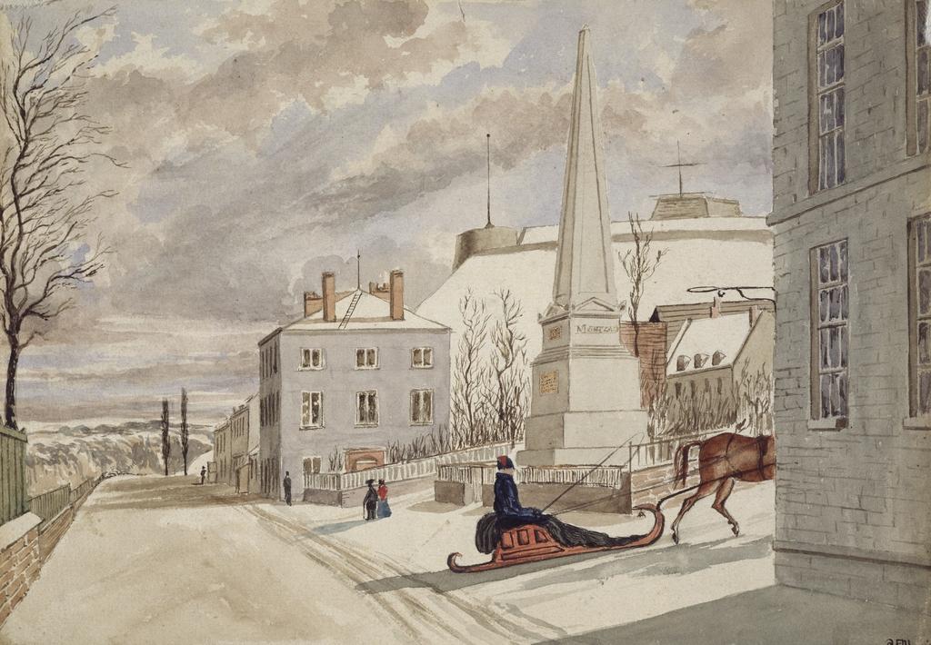 Le Monument à Wolfe et à Montcalm, Québec