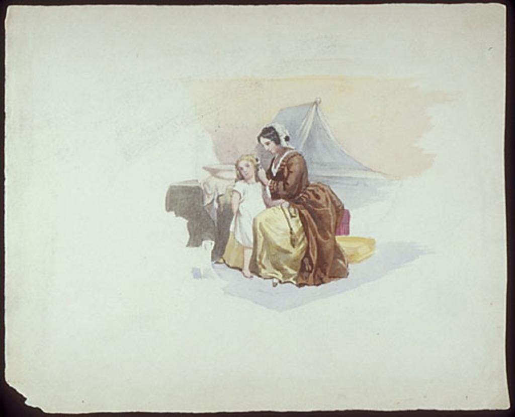 Femme faisant la toilette d'un enfant