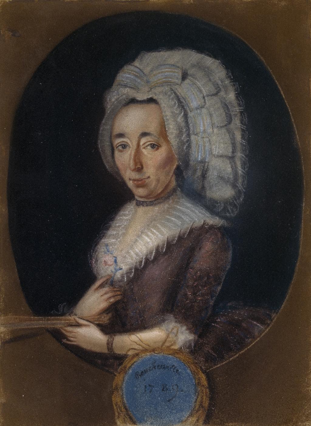 Portrait présumé de Madame René-Amable Boucher de Boucherville, née Marie-Madeleine Raimbault de Saint-Blaint