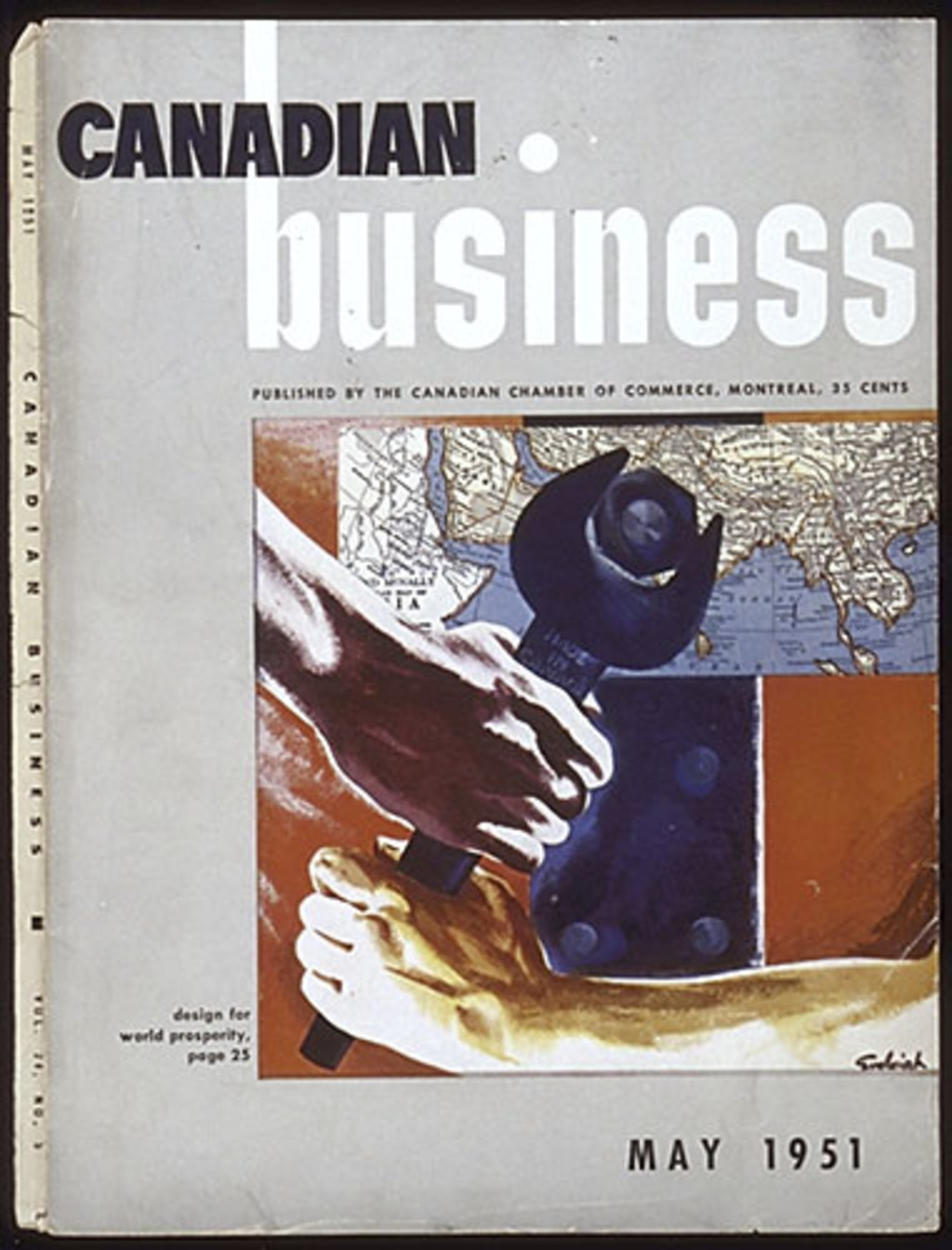 Page couverture « Canadian Business », mai 1951