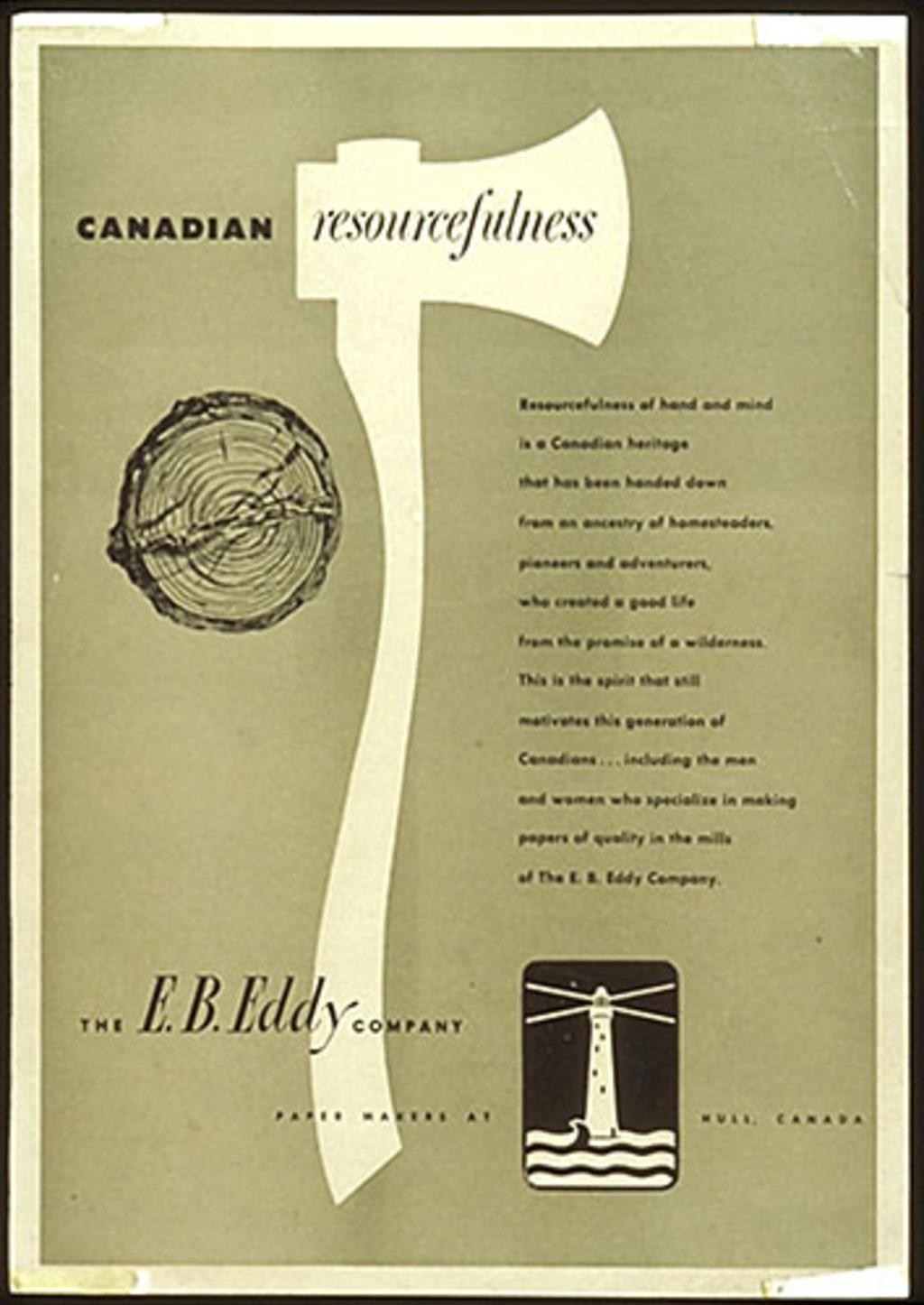 Annonce publicitaire « E.B. Eddy »