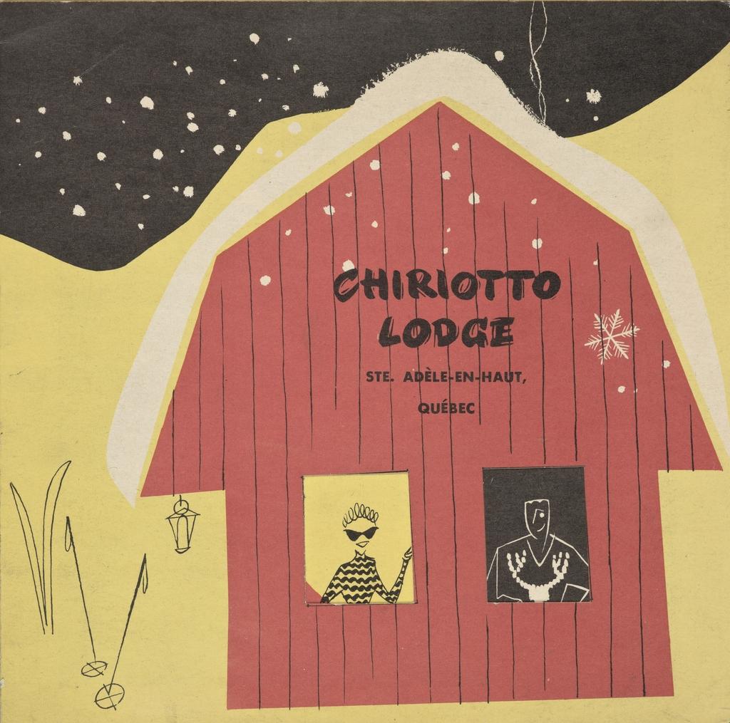 Dépliant « Chiriotto Lodge, Ste-Adèle »