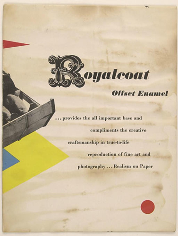 Dépliant « Realism on Paper », pour Royalcoat Offset Enamel