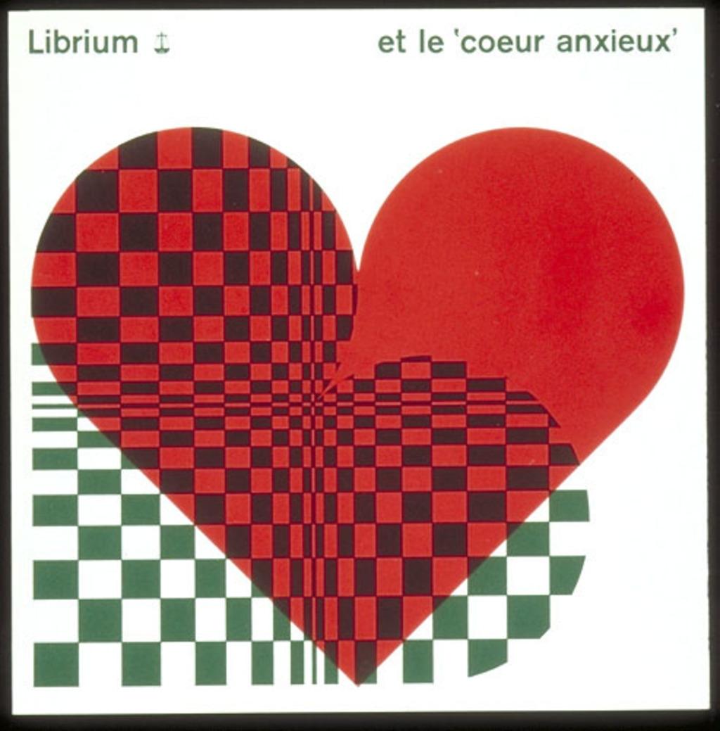 """Dépliant « Librium et le """"coeur anxieux""""», pour Roche"""