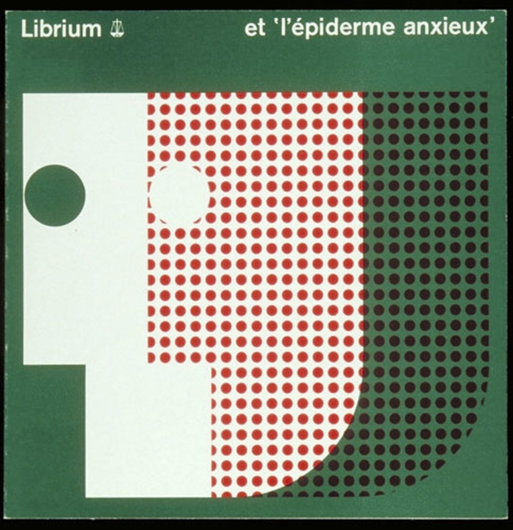 """Dépliant « Librium et """"l'épiderme anxieux""""», pour Roche"""