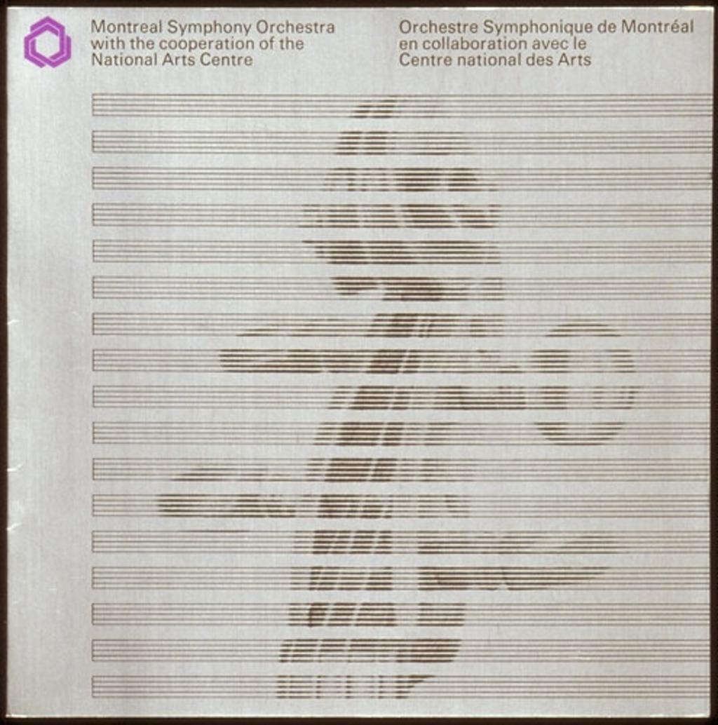 Dépliant « Orchestre symphonique de Montréal en collaboration avec le Centre national des Arts »