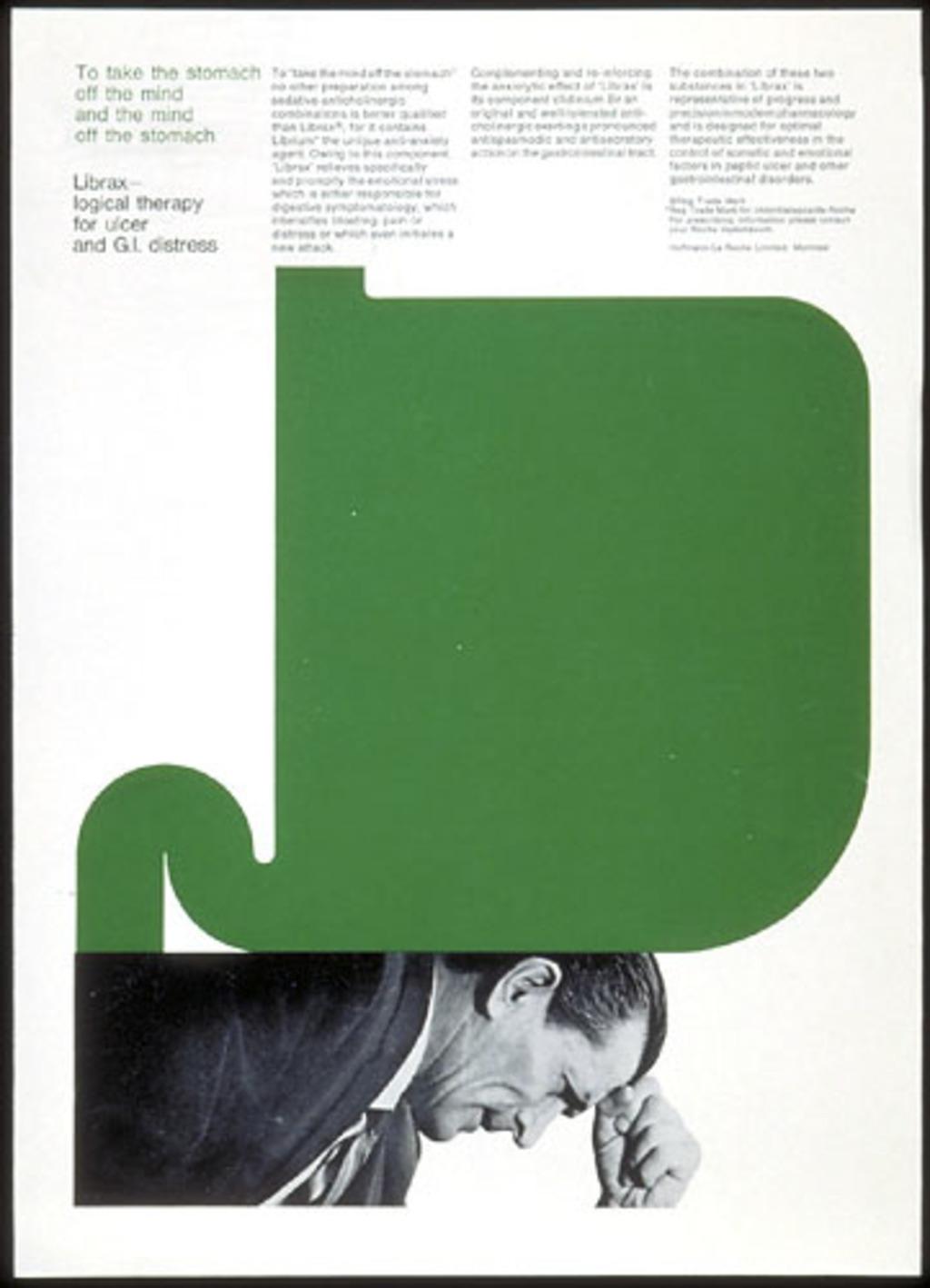 Annonce publicitaire « Librax », pour Roche