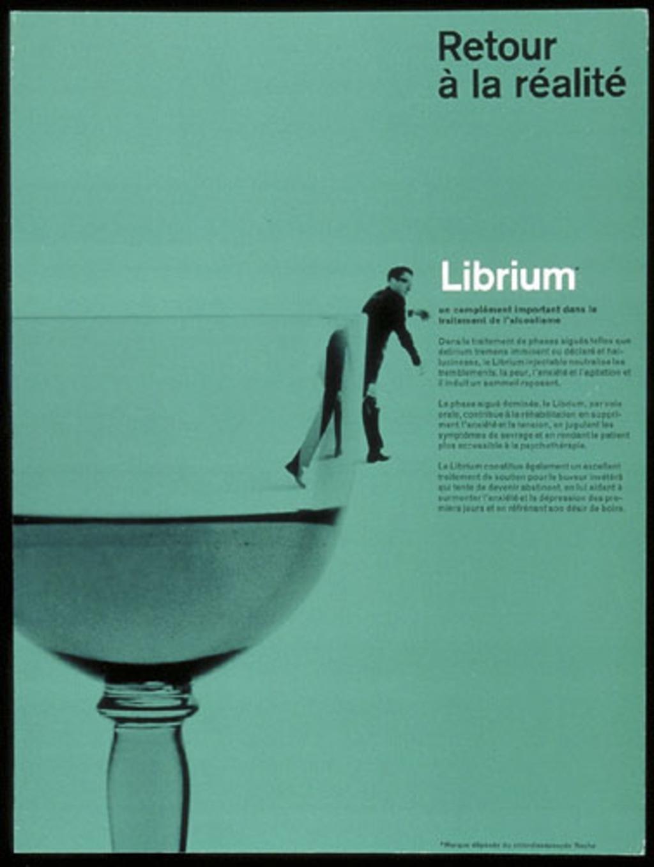 Annonce publicitaire « Retour à la réalité, Librium », pour Roche