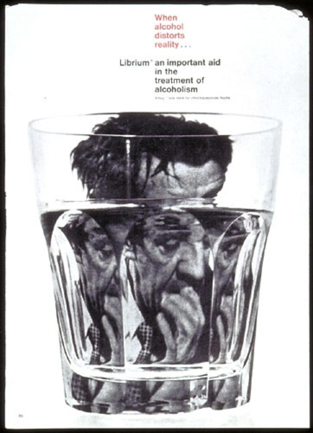 Annonce publicitaire « When Alcohol Distorts Reality... Librium », pour Roche