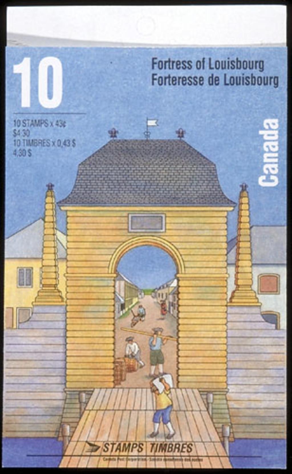 Carnet 10 timbres « Forteresse de Louisbourg »