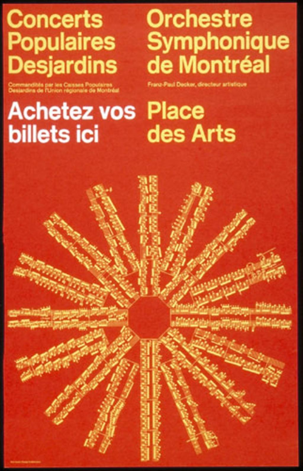 Orchestre symphonique de Montréal. Place des Arts