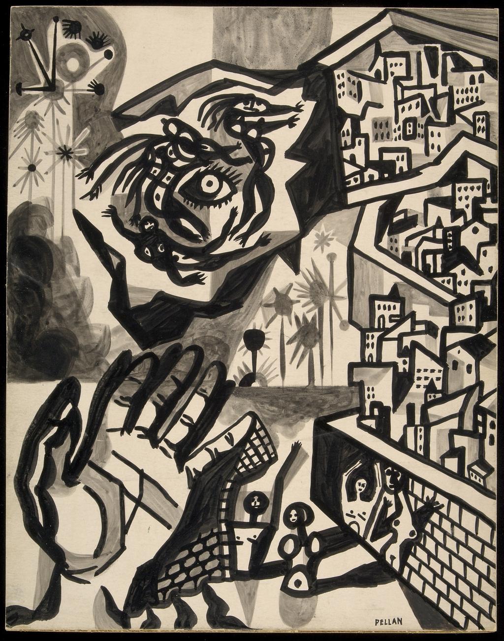 « Alors nous vivions aux remparts des villes endormies ». Illustration pour « Les Îles de la nuit » d'Alain Grandbois
