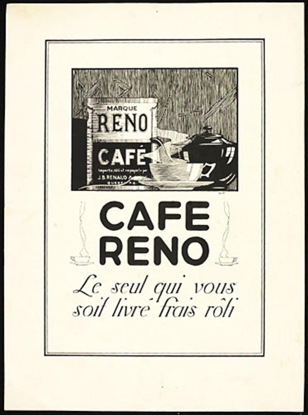 Illustration pour l'affiche « Café Reno »
