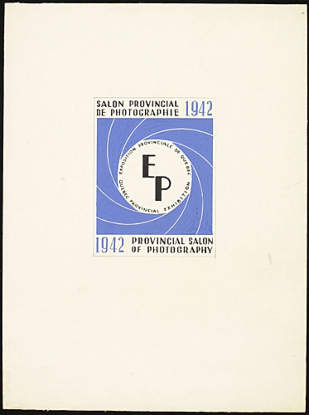 Proposition de vignette « Salon provincial de photographie, 1942 »