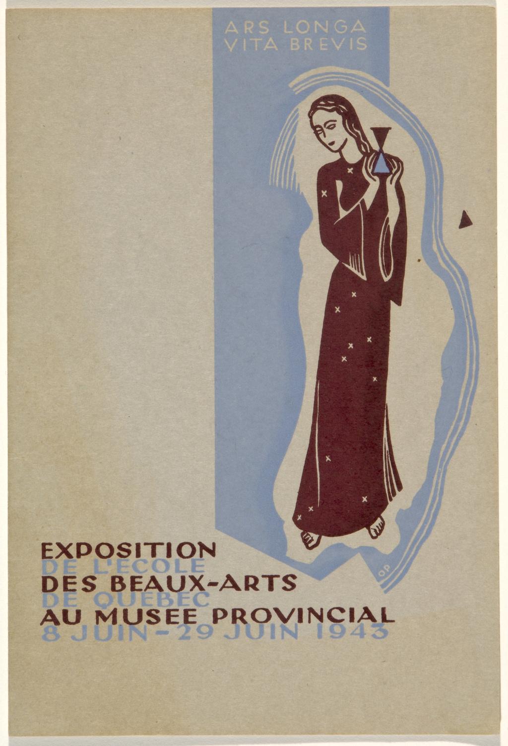 Brochure « Exposition de l'École des beaux-arts de Québec au Musée provincial », Québec