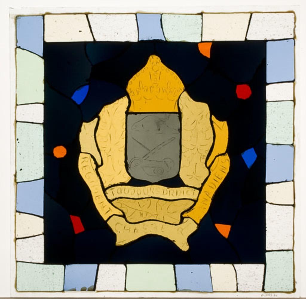 Maquette pour le vitrail de la chapelle du Souvenir du Royal 22e Régiment, Québec