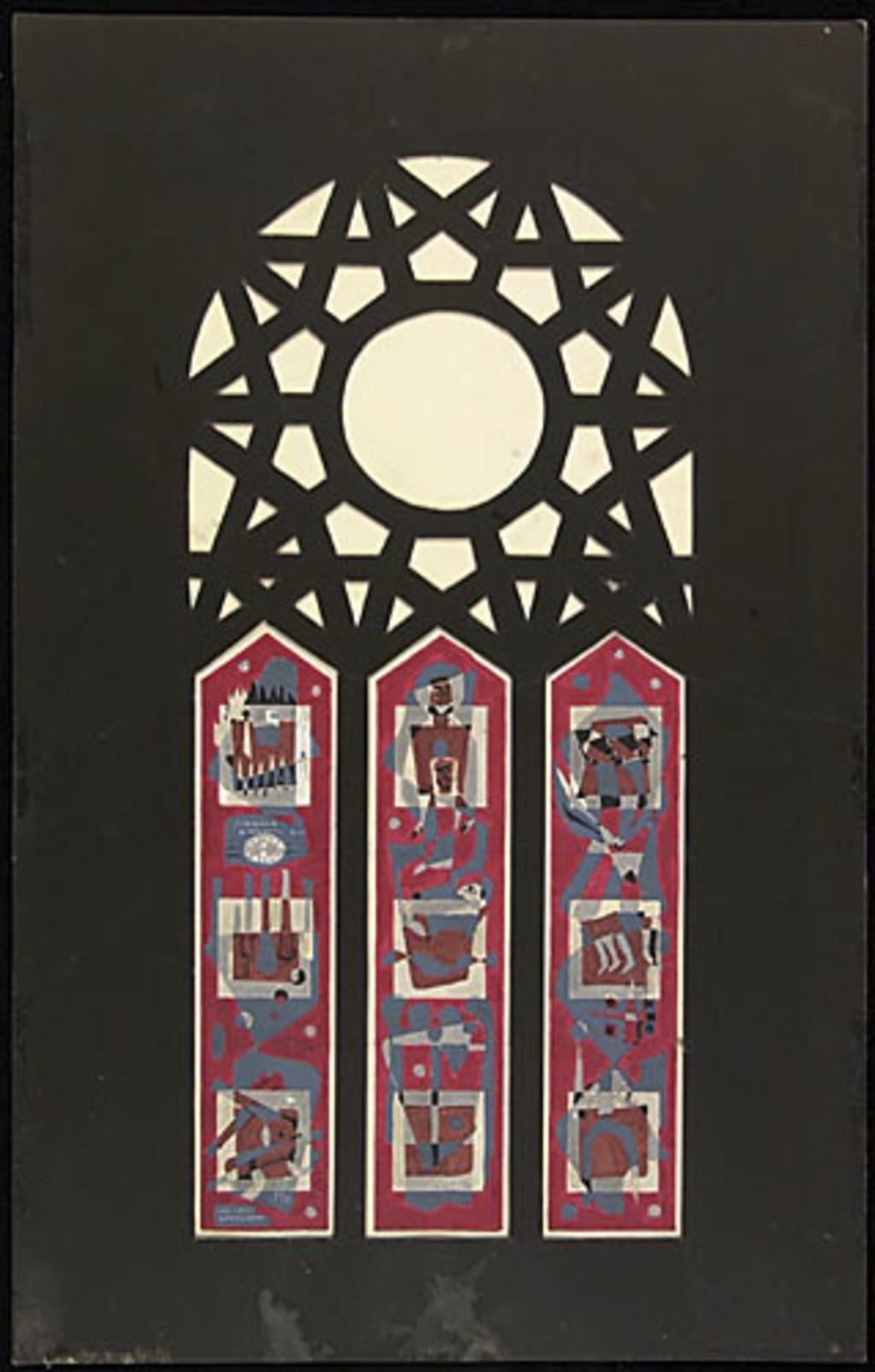 Maquette pour les vitraux de l'Oratoire Saint-Joseph, Montréal