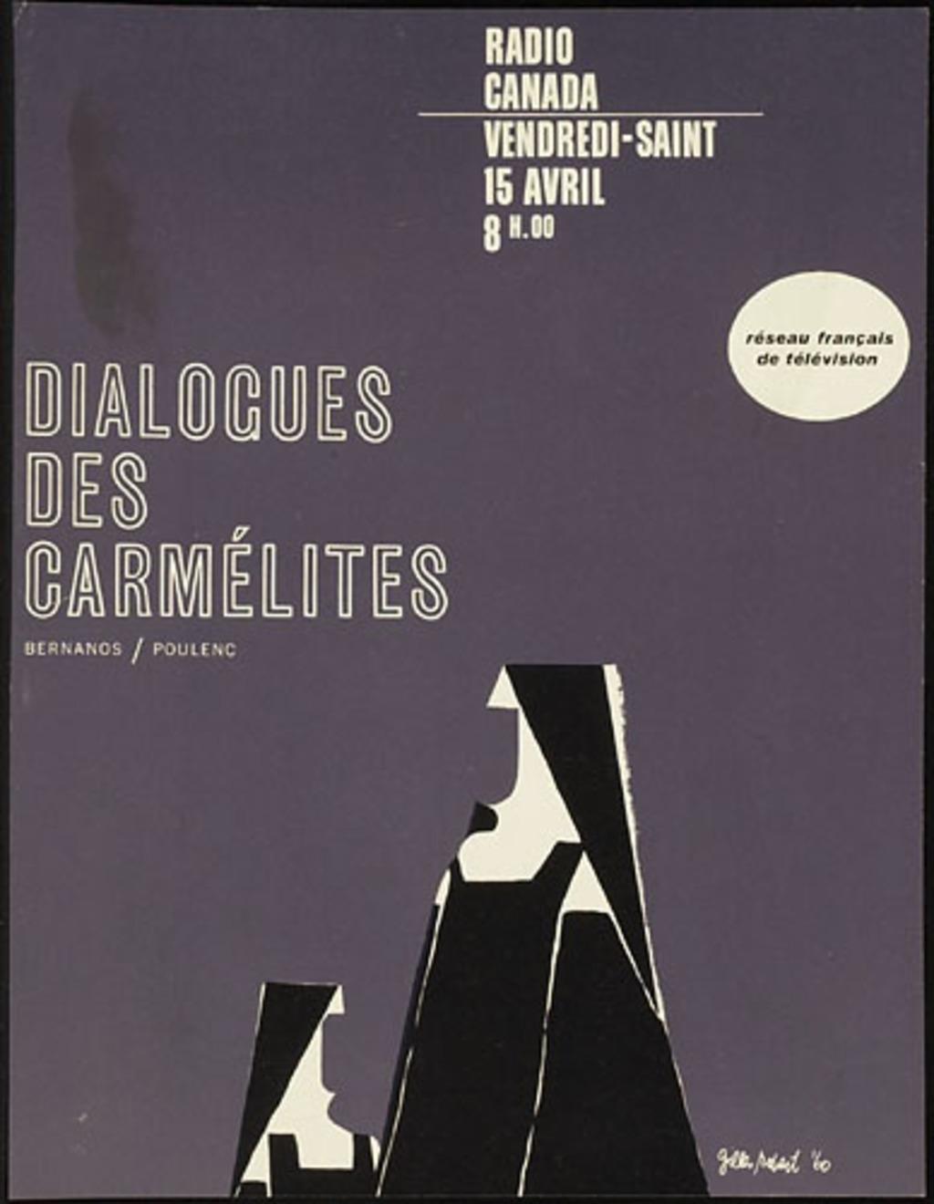 Affichette « Dialogues des Carmélites »