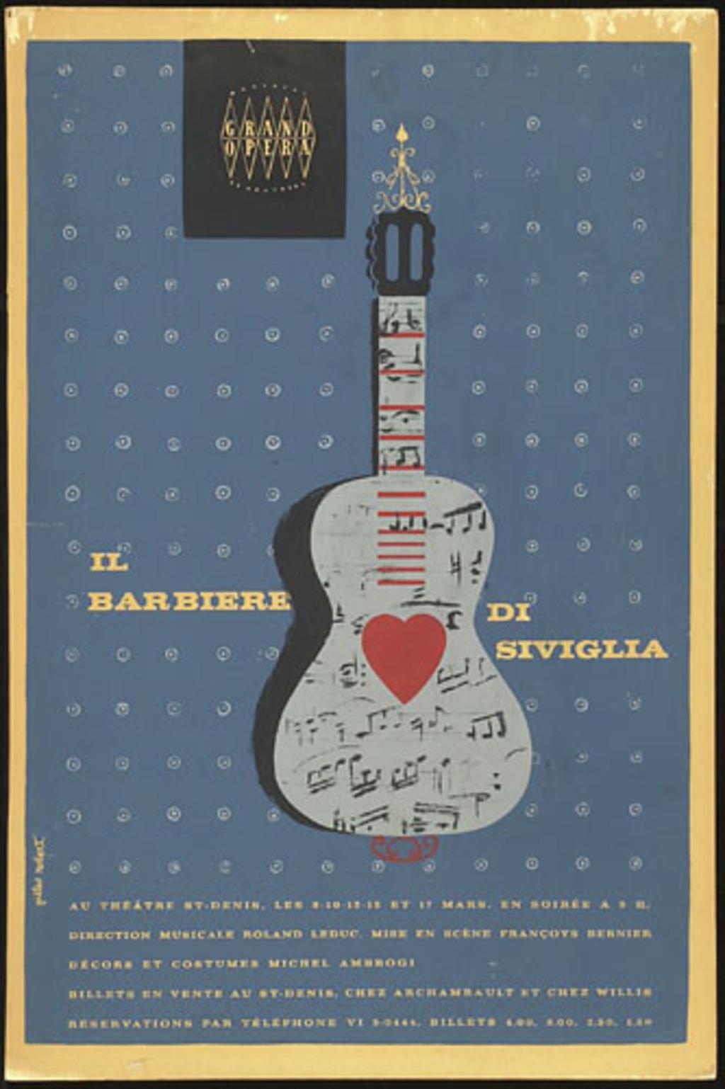 Affiche « Il Barbiere di Siviglia »