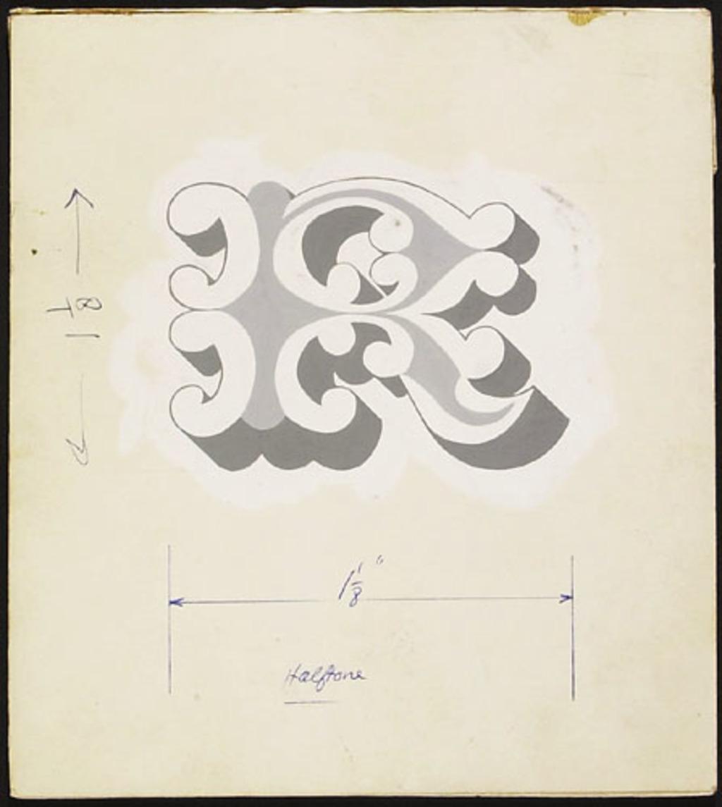 Maquette pour le monogramme de Gilles Robert graphiste designer