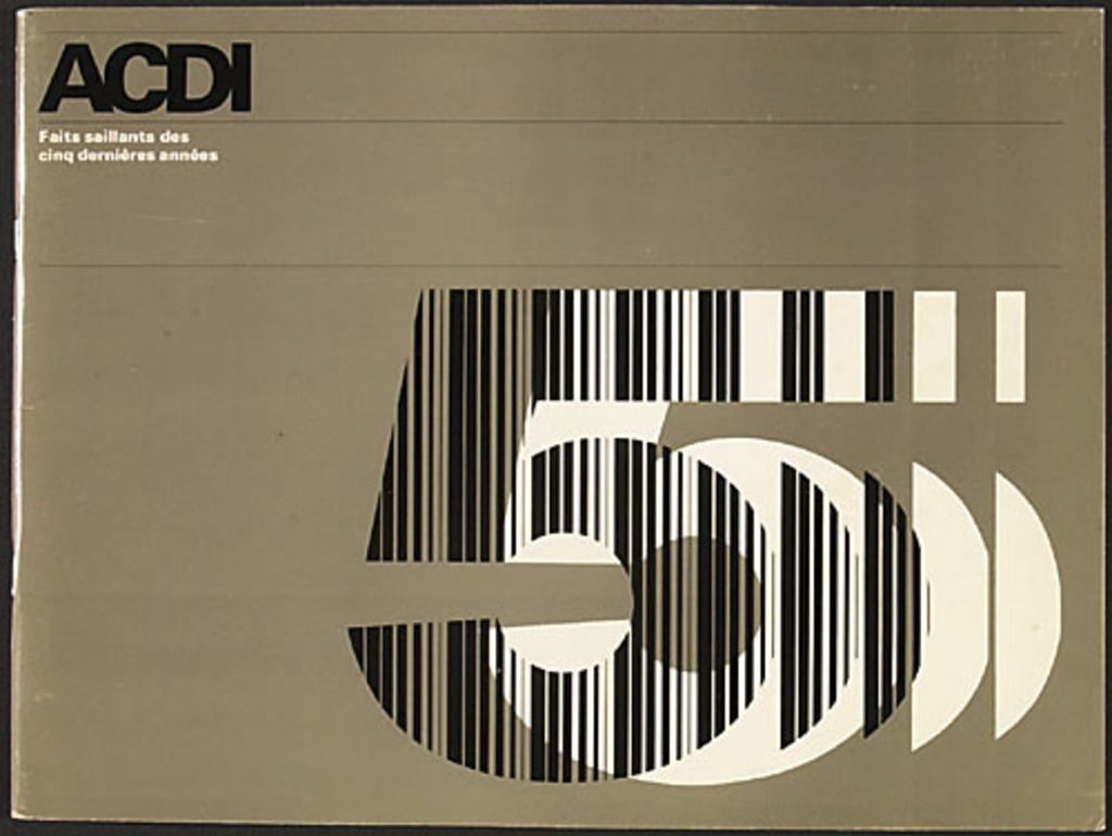 Brochure « ACDI. Faits saillants des cinq dernières années »