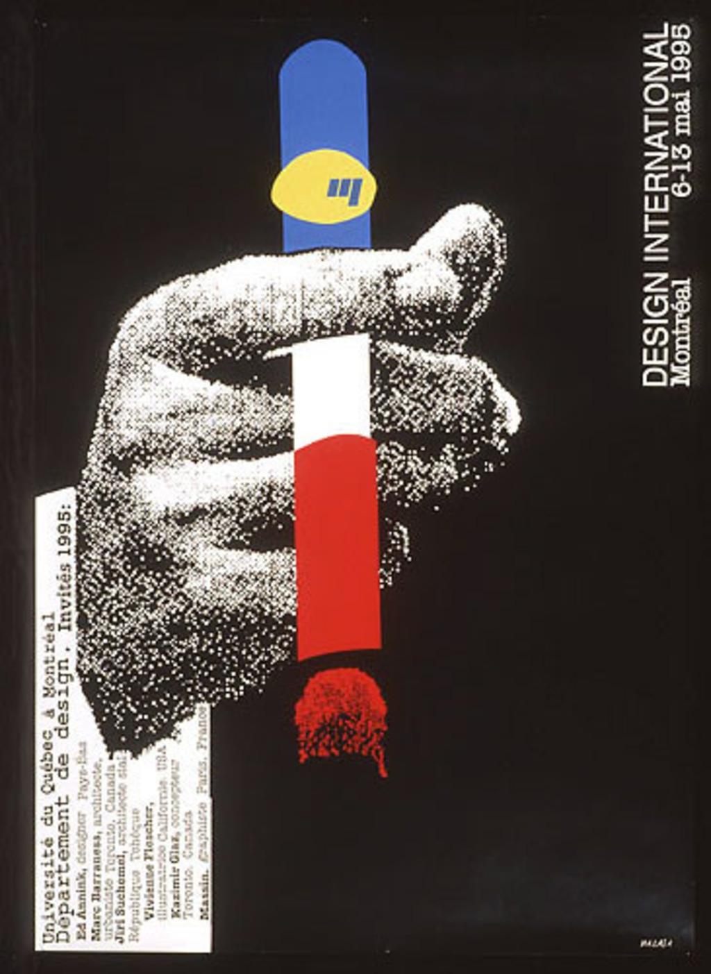 Affiche « Design international 1995 »
