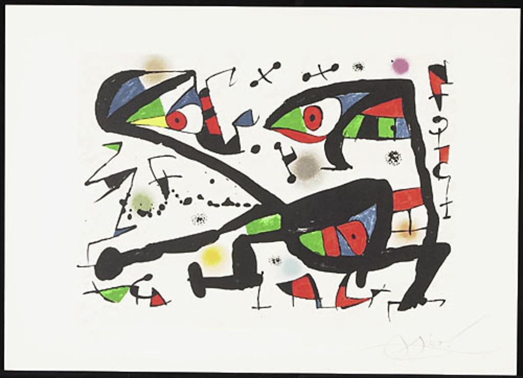 Sans titre, de l'album « Alechinsky Calder Miró Riopelle »