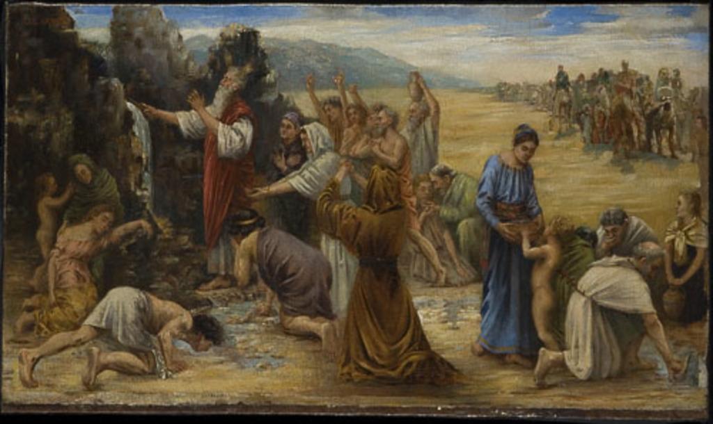 Moïse frappant le rocher. Étude pour un grand tableau de la chapelle Notre-Dame du Sacré-Coeur, église Notre-Dame de Montréal