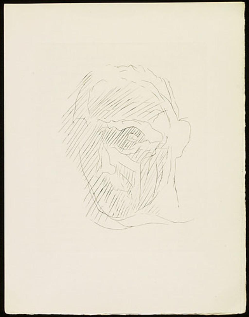 Portrait, du livre illustré «Éloge de Jacques Villon»